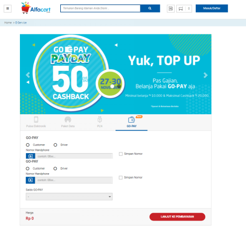 Cara Top Up GO-PAY